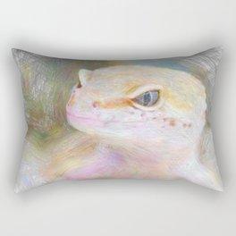 Artistic Animal Gekko Rectangular Pillow