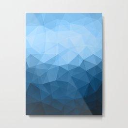 Geometric Polygonal Pattern 03 Metal Print