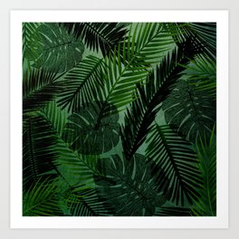Green Foliage Art Print