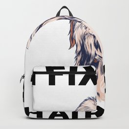 i fix 10 dollar haircuts hairstylist gift hair dresser  Backpack