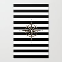 compass Canvas Prints featuring Compass by Andréa Bottalla