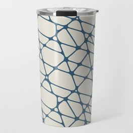 Blue & Linen White Abstract Mosaic Pattern 2 Pairs To 2020 Color of the Year Chinese Porcelain Travel Mug