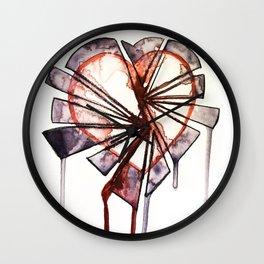 Shattered heart Wall Clock