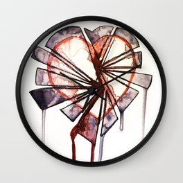 Shattered heart Wall Clock