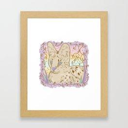 Pretty Little Serval Framed Art Print