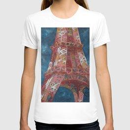 Eiffel Tower by Lu T-shirt