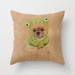 Littlle Greenie Throw Pillow