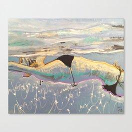 Swimming No.3 Canvas Print