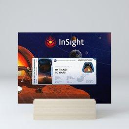 Mars InSight Ticket Mini Art Print