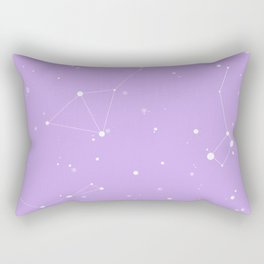 Pastel Purple Night Sky Rectangular Pillow