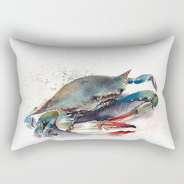 Blue Crab Rectangular Pillow