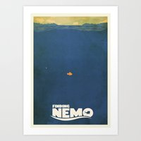 finding nemo Art Prints featuring Finding Nemo by Mattias Fahlberg