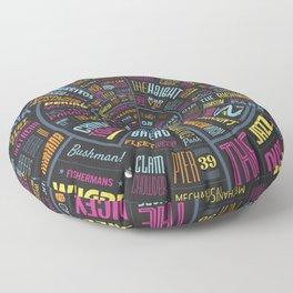 San Fracnisco type wheel with color Floor Pillow