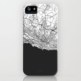 Lausanne Map Gray iPhone Case