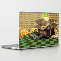 sofa Laptop & iPad Skins featuring Oook builds a sofa by togsos