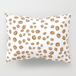 watercolor coffee beans pattern Pillow Sham