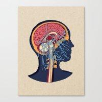 anatomy Canvas Prints featuring anatomy by kanakiki