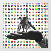 dancing Canvas Prints featuring Dancing by Cs025