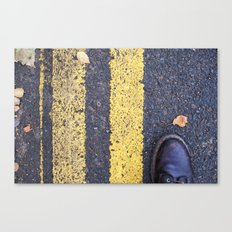 Foot and Line Canvas Print