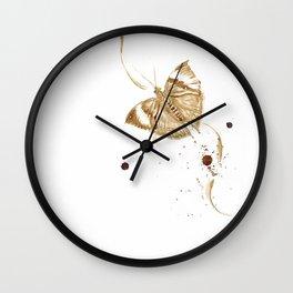 Coffee butterfly Wall Clock
