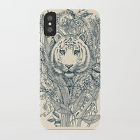 leaf iPhone & iPod Cases featuring Tiger Tangle by micklyn