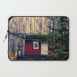 Cabin in the Woods (Emerson quote) Laptop Sleeve