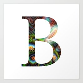"Initial letter ""B"" Art Print"