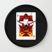 berserk Wall Clocks featuring Jack of Diamonds - Warrior Jack by Thirdway Industries Shop