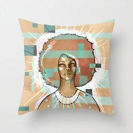 Erykah Badu Throw Pillow