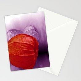 orange physalis Stationery Cards