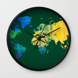 World Map 20 Wall Clock