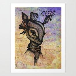 Cerf (Deer) Art Print