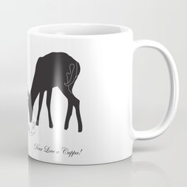 Deer love a Cuppa! Deer products, woodland illustration, animal lovers, deer gifts, Coffee Mug