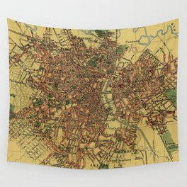 Vintage Map of Sao Palo Brazil (1913) Wall Tapestry