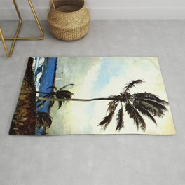 Palm Tree Nassau 1898 By WinslowHomer | Reproduction Rug