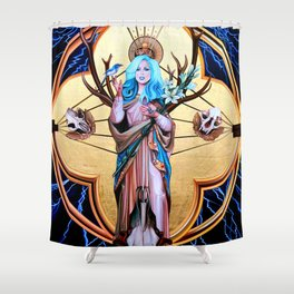 Ecos of Thunder Painting Shower Curtain