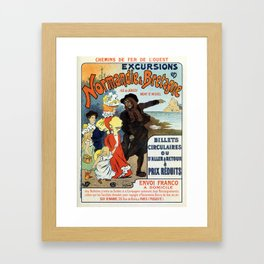 1896 Normandy Brittany Jersey travel ad Framed Art Print