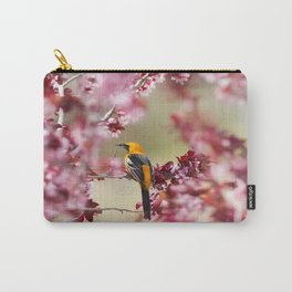 Oriole in Plum Tree Carry-All Pouch