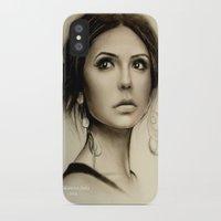 vampire diaries iPhone & iPod Cases featuring Nina Dobrev The Vampire Diaries  by Yuliya  Talanova