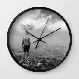 Mind disconnected Wall Clock