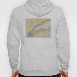 Vintage Map of The Long Island Sound (1934) Hoody