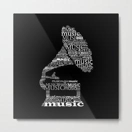 Invert gramophone Metal Print