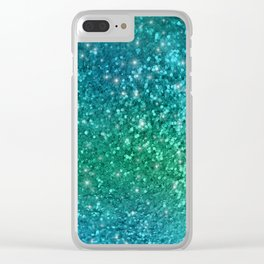 Mermaid Sparkles Clear iPhone Case