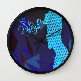 blue sorrow Wall Clock