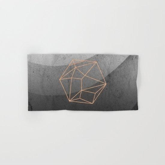Geometric Solids on Marble Hand & Bath Towel