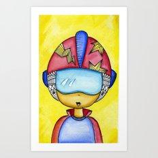 Aliem Space Explorer Boy Art Print