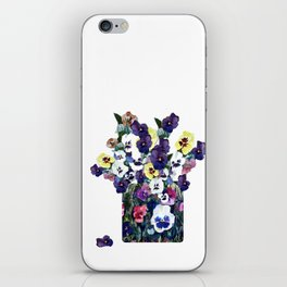 A pot of pansies iPhone Skin