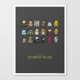 Mega Star Wars: Episode IV - Return of the Jedi Canvas Print