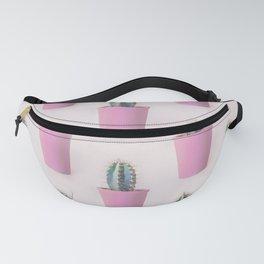 Single Cactus Pot in soft pastel Colors Fanny Pack