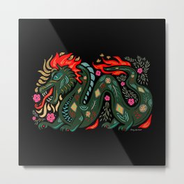 Dragon - Red, Black, Green Metal Print